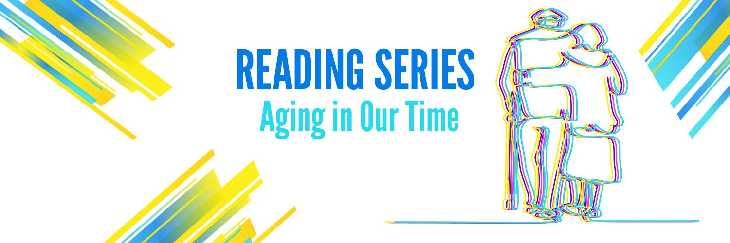Reading Series - Aging in Our Time: Outlines of an elderly couple walking away