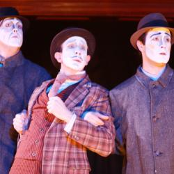 Mike Dees, Charlie DelMarcelle, and Kevin Meehan in <em>Dublin By Lamplight</em>. Photo: Katie Reing