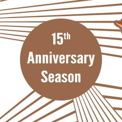 15th Anniversary Season Announcement Artwork. Design: Katie Reing