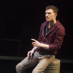 Liam Mulshine in Leper + Chip. Photo: Katie Reing.