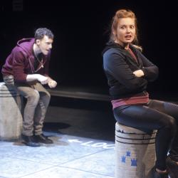 Katie Stahl and Liam Mulshine in Leper + Chip. Photo: Katie Reing.