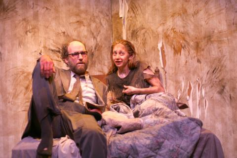Brian McCann and Melissa Lynch in <em>Bedbound</em> Photo: Katie Reing