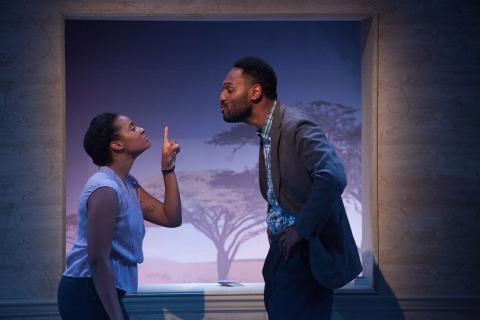Jessica M. Johnson and Walter DeShields in The Swallowing Dark. Photo: Plate 3